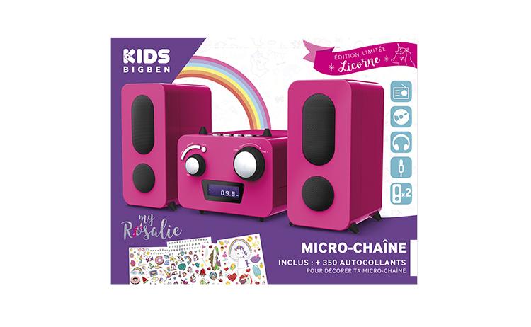 Mini-chaîne lecteur CD MCD11RSUNICORNSTICK BIGBEN KIDS - Visuel#2tutu#4tutu#5