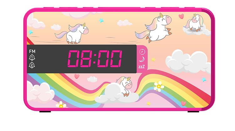 Radio réveil double alarme RR16UNICORN2 BIGBEN KIDS - Visuel#1