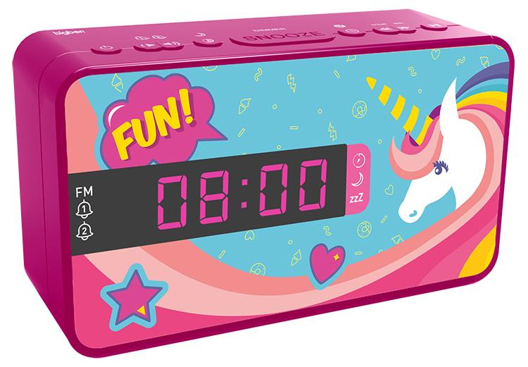 Radio réveil double alarme RR16UNICORN2 BIGBEN KIDS - Visuel#2tutu#4tutu#6tutu