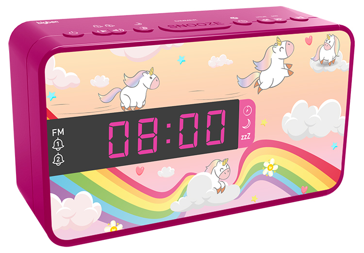Radio réveil double alarme RR16UNICORN2 BIGBEN KIDS - Visuel#2tutu#4tutu#6tutu#7
