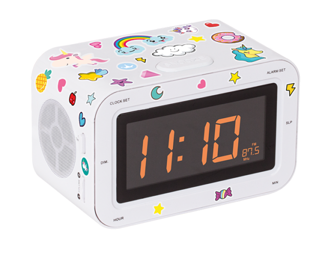 Radio réveil double alarme RR30BCUNICORNSTICK BIGBEN KIDS – Packshot