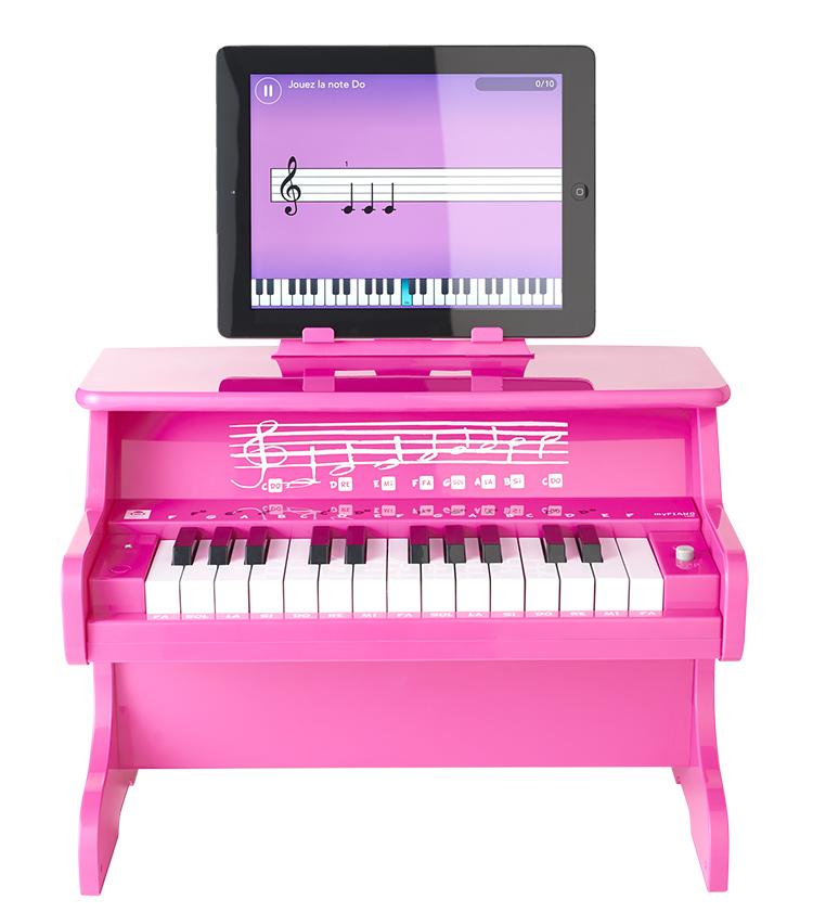 Mini piano Bluetooth portable MYPIANO100PK I DANCE - Visuel