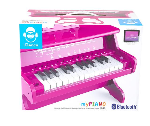 Mini piano Bluetooth portable MYPIANO100PK I DANCE – Visuel#1