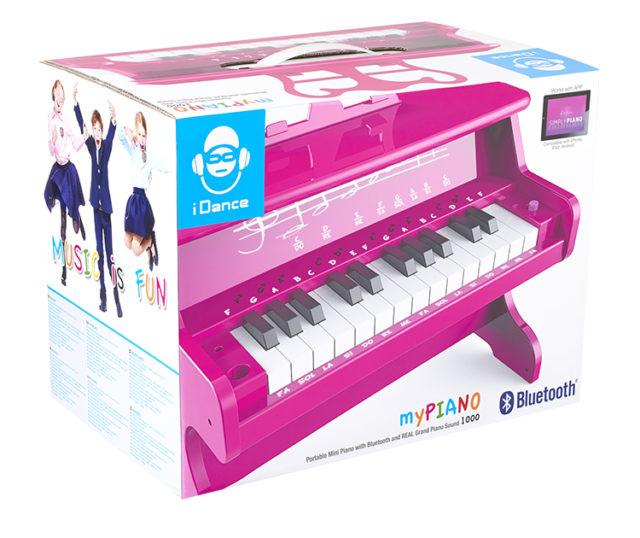 Mini piano Bluetooth portable MYPIANO100PK I DANCE – Visuel#2tutu