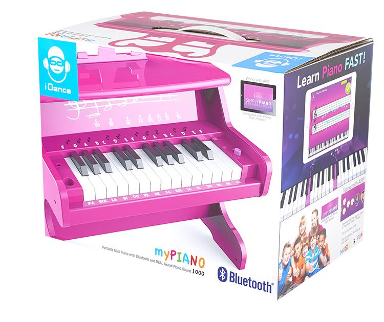 Mini piano Bluetooth portable MYPIANO100PK I DANCE - Visuel#2tutu#3