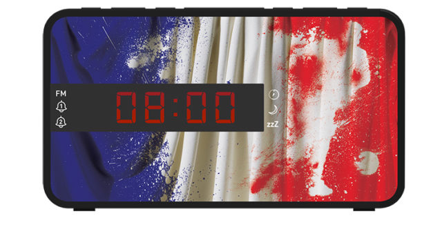 Radio réveil double alarme RR16FOOTFR BIGBEN – Packshot