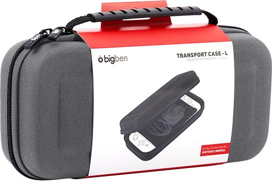 Pochette de transport rigide SWITCHPOUCHLGREY BIGBEN – Visuel#1