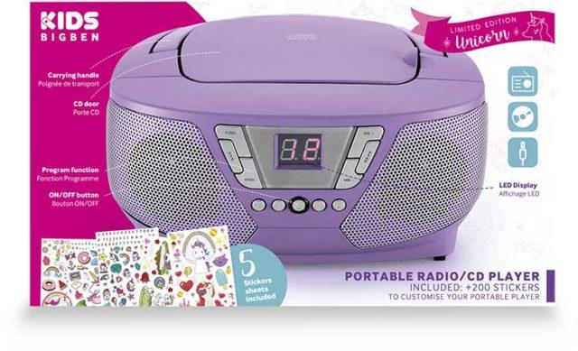 Lecteur radio/CD portable CD60UNICORNSTICK BIGBEN – Visuel#2tutu