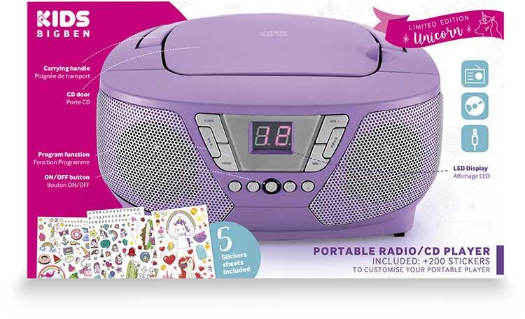 Lecteur radio/CD portable CD60UNICORNSTICK BIGBEN - Visuel#2tutu