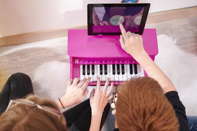 Mini piano Bluetooth portable MYPIANO1000WH I DANCE – Visuel