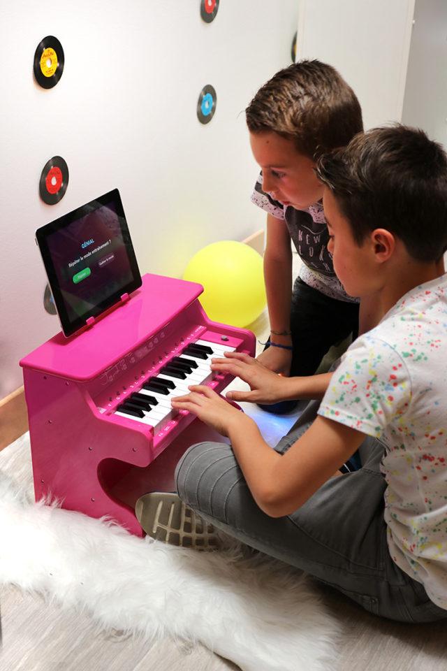 Mini piano Bluetooth portable MYPIANO1000WH I DANCE – Visuel#1