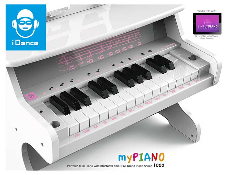 Mini piano Bluetooth portable MYPIANO1000WH I DANCE - Visuel#2tutu
