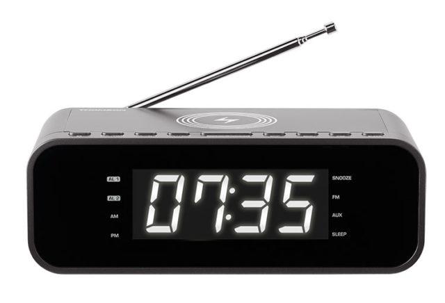Radio réveil avec chargeur sans fil CR225I THOMSON – Packshot