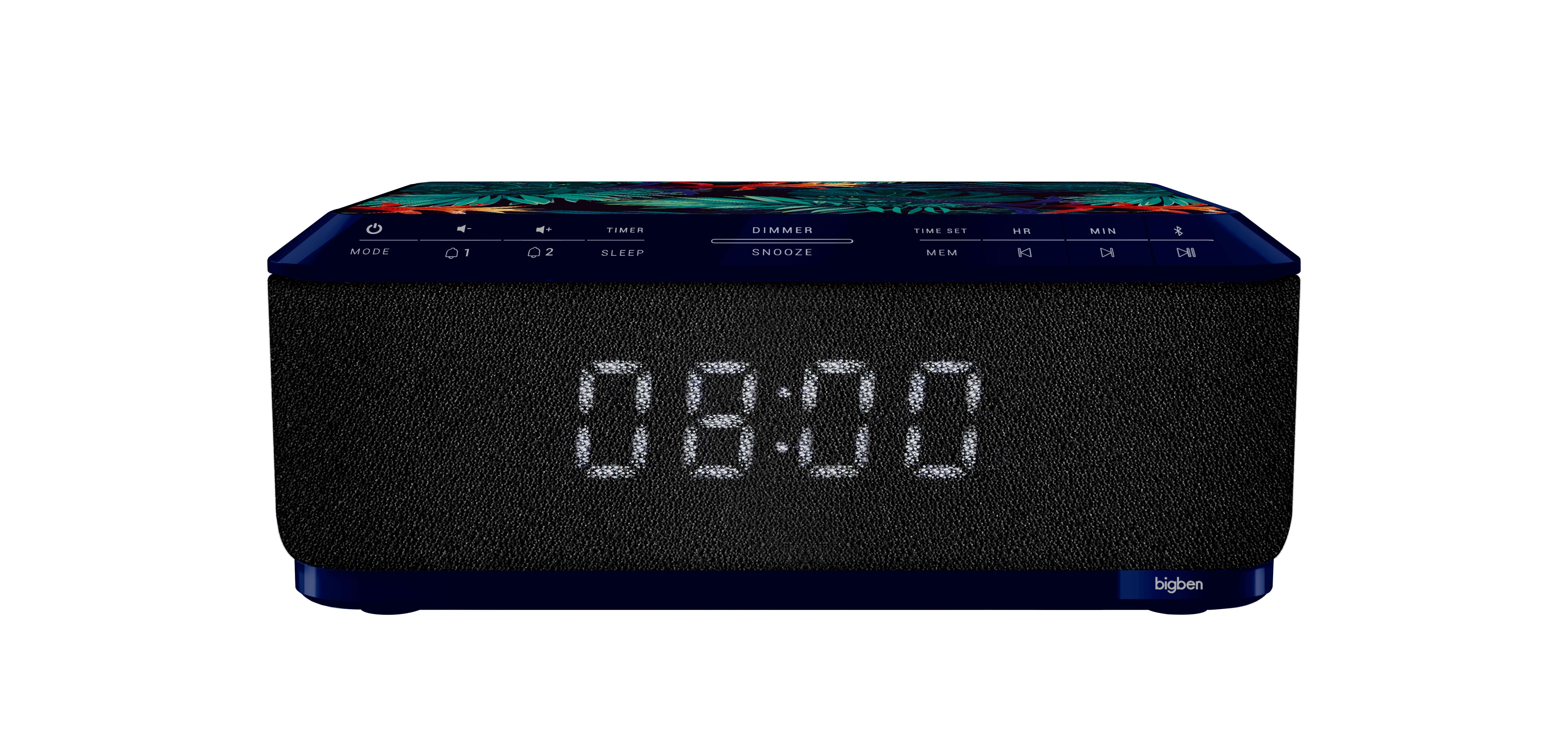 Radio réveil avec chargeur sans fil RR140IJUNGLE BIGBEN - Packshot