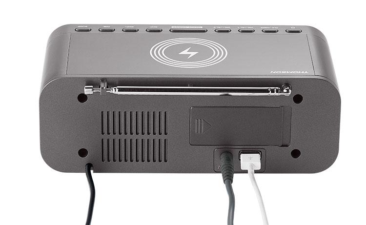 Radio réveil avec chargeur sans fil CR225I THOMSON - Visuel#2tutu#4tutu#5
