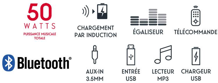 Micro chaine CD/MP3/USB MIC200IBT THOMSON - Visuel#2tutu#4tutu#6tutu