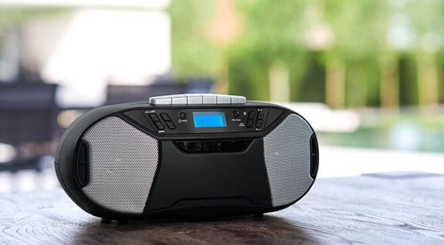 Radio cassette/CD portable RK250UCD THOMSON – Visuel