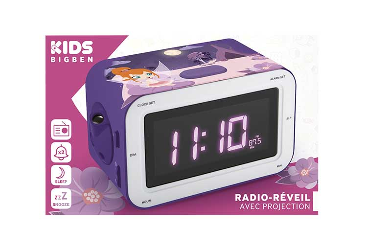 Radio-réveil avec projection RR30PFAIRY4 BIGBEN KIDS - Visuel#2tutu