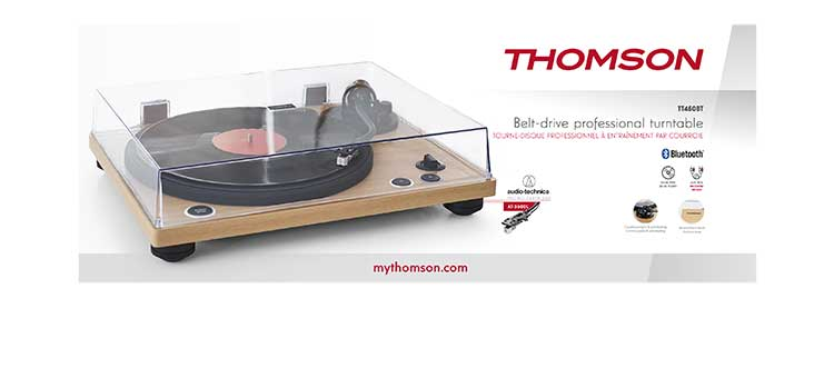 Tourne-disques professionnel TT450BT THOMSON - Visuel#2tutu#3
