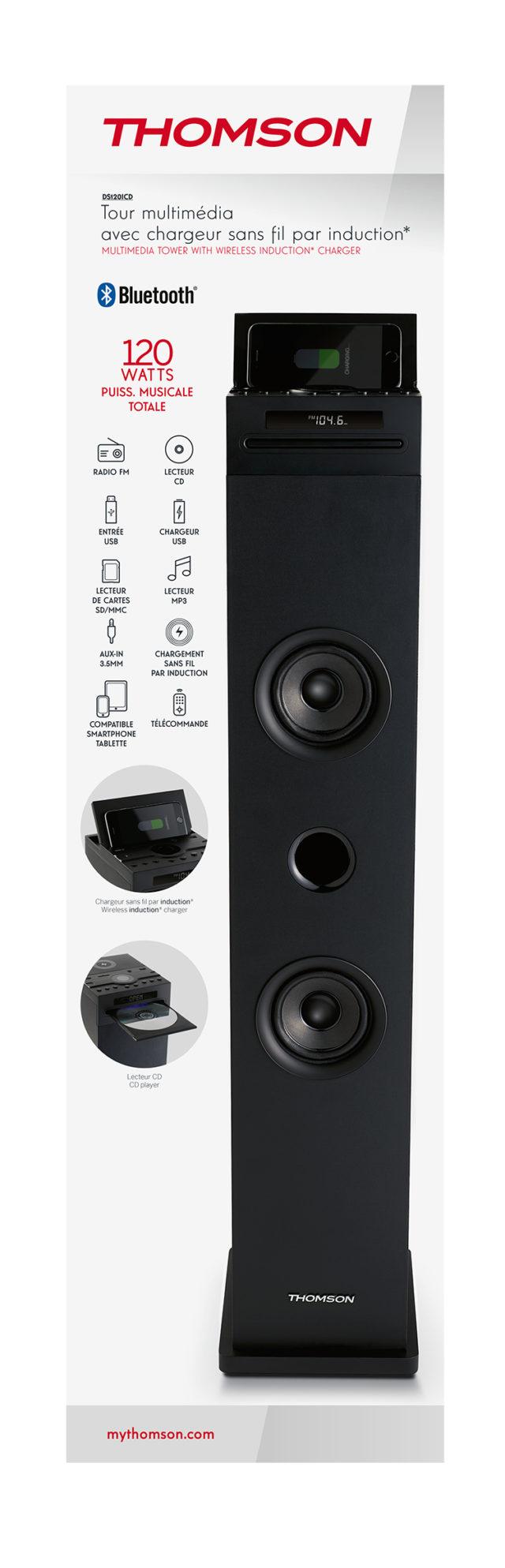 Tour multimédia avec chargeur sans fil DS120ICD THOMSON – Visuel#2tutu#4tutu