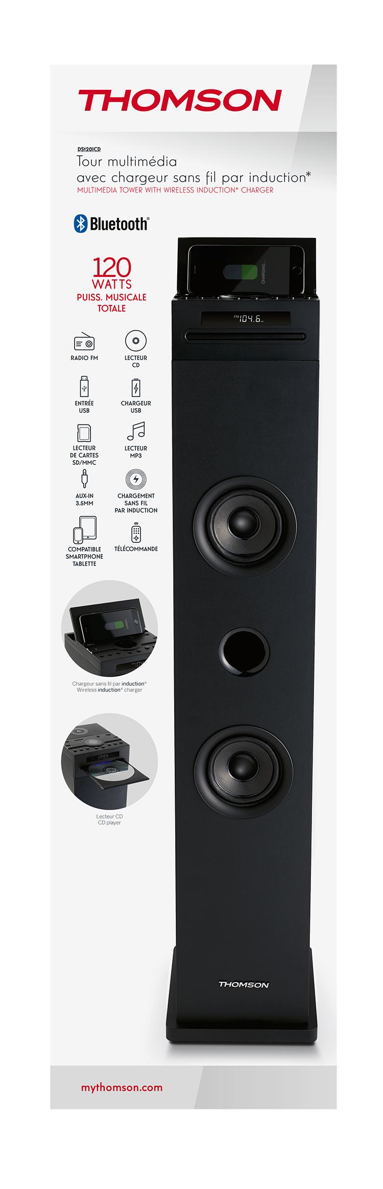 Tour multimédia avec chargeur sans fil DS120ICD THOMSON - Visuel#2tutu#4tutu