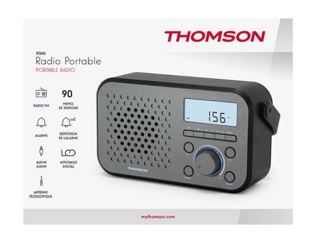 Radio portable RT300 THOMSON – Visuel#2tutu