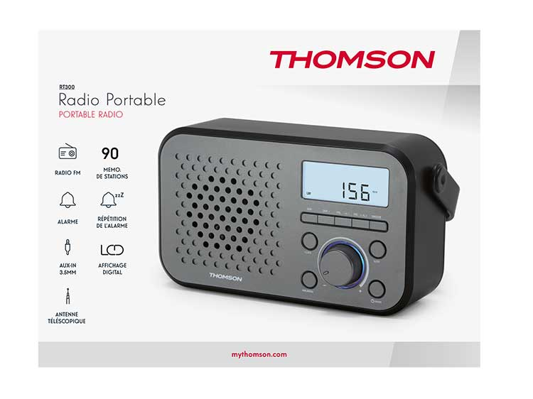 Radio portable RT300 THOMSON - Visuel#2tutu