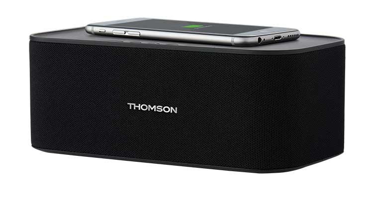 Enceinte sans fil avec chargeur sans fil WS06IPB THOMSON - Visuel