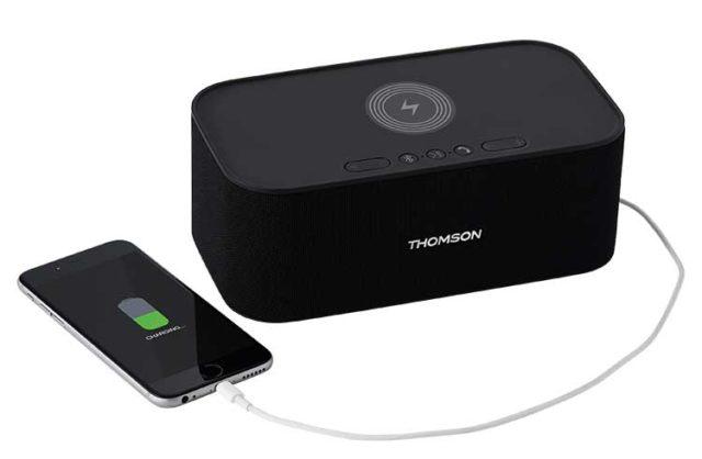 Enceinte sans fil avec chargeur sans fil WS06IPB THOMSON – Visuel#2tutu