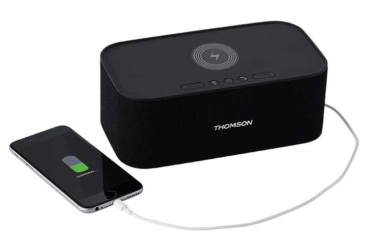 Enceinte sans fil avec chargeur sans fil WS06IPB THOMSON - Visuel#2tutu