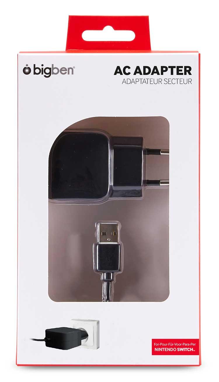 Adaptateur secteur pour recharger votre Nintendo Switch™ SWITCHADAPTV2 BIGBEN - Visuel#2tutu