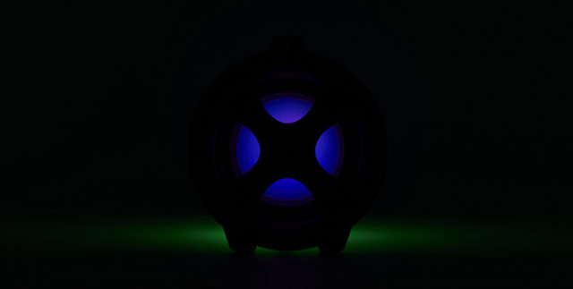 Enceinte bluetooth® lumineuse CYCLONE401BK I DANCE – Visuel#2tutu#4tutu