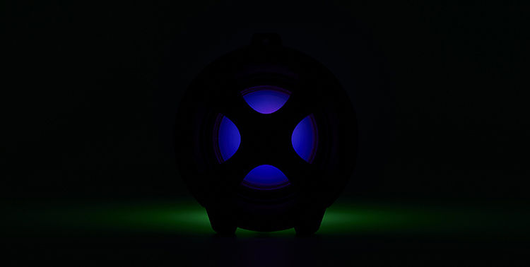 Enceinte bluetooth® lumineuse CYCLONE401BK I DANCE - Visuel#2tutu#4tutu