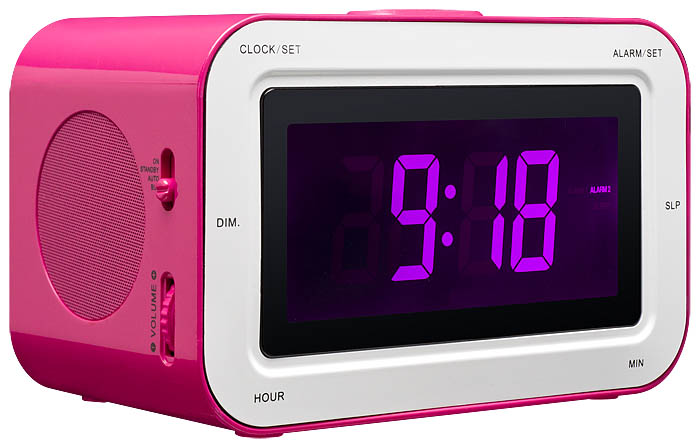 RR30 Clock Radio + Stickers (Pink) - Image   #1