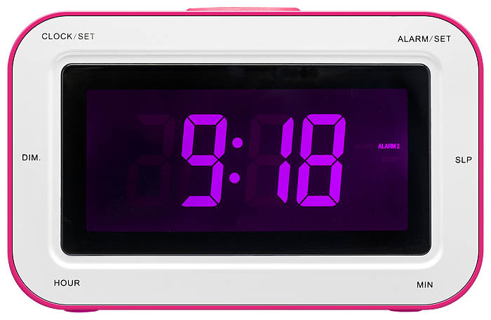 RR30 Clock Radio + Stickers (Pink) - Image   #3
