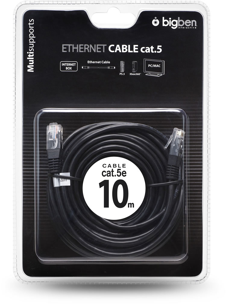 Ethernet Cable Cat.5e (Black) - Image