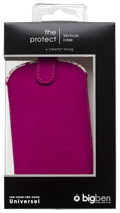 Universal pouch with embossed butterfly (Pink) - Image