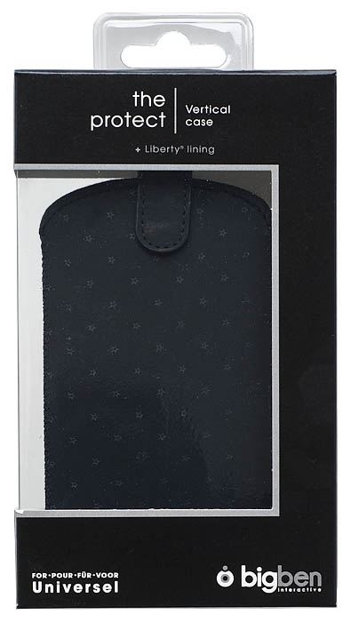 Universal pouch with embossed stars (Black) - Image
