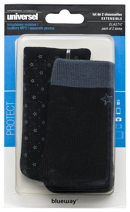 Set of two cotton sock (Black and Grey) - Image