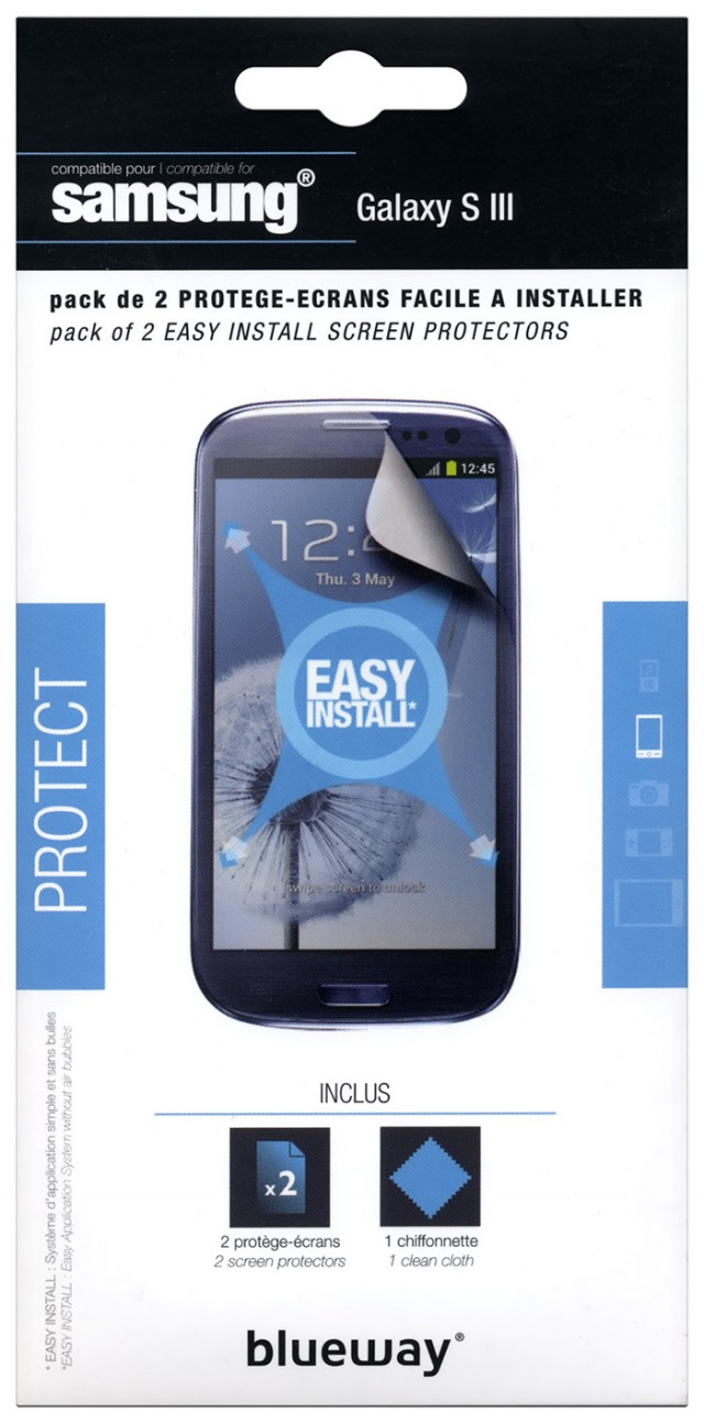 Set of two screen protector for Samsung® Galaxy SIII - Packshot