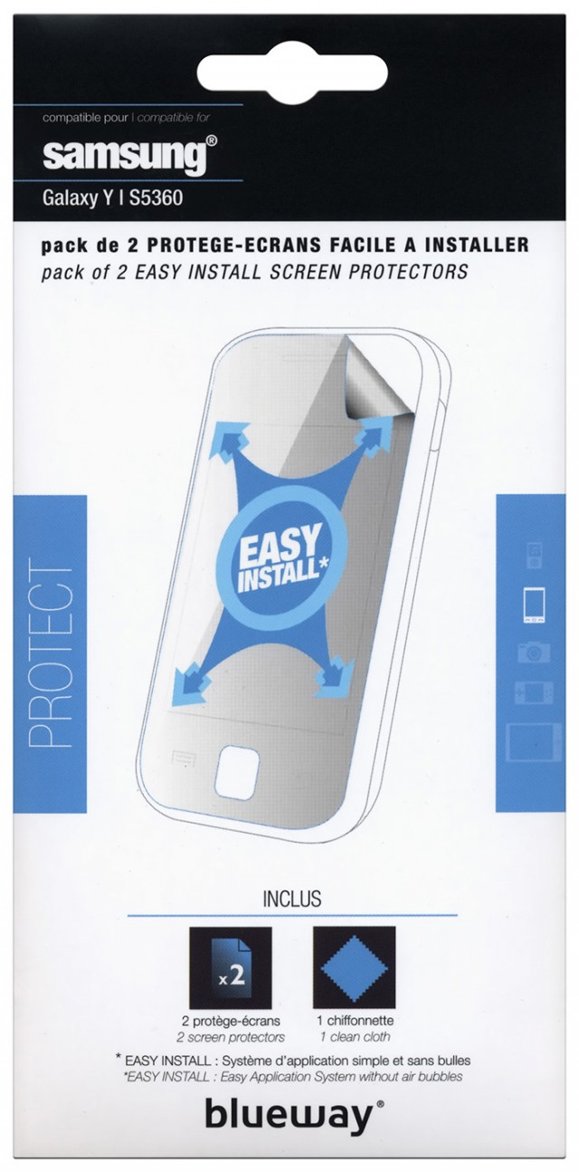 Set of two screen protector for Samsung® Galaxy Y - Packshot