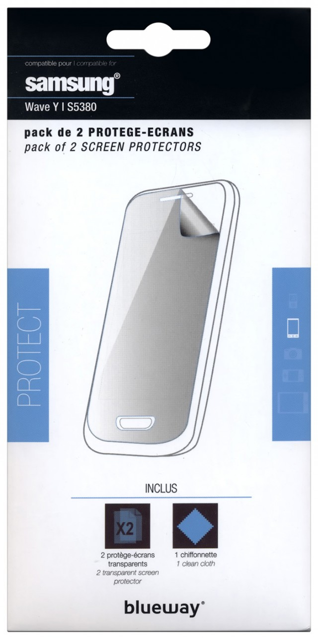 Set of two screen protector for Samsung® Wave Y - Image