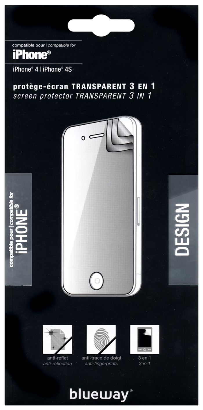 Triple layer Screen Protector for iPhone® 4/4S - Image