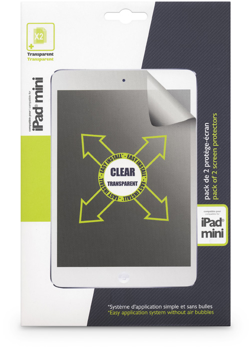 Set of two transparent screen protector for iPad® Mini - Image