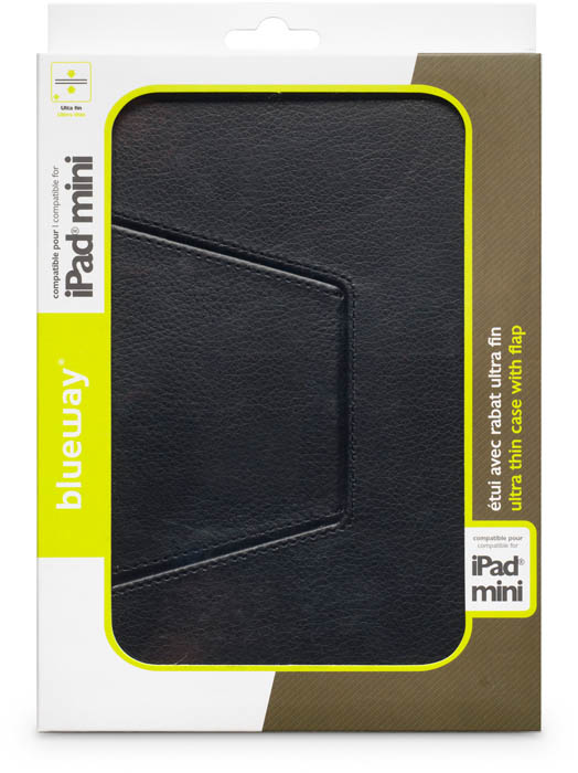 Black slim flap case for iPad® Mini - Image