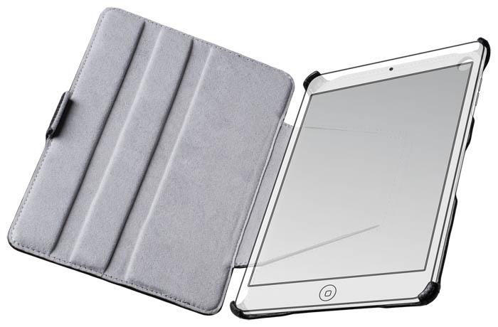 Black slim flap case for iPad® Mini - Image   #2