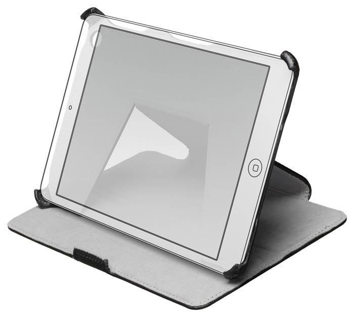 Black slim flap case for iPad® Mini - Image   #3