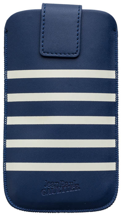 "Universal Medium Pouch ""Marinière"" Jean Paul Gaultier (white & navy) - Packshot"