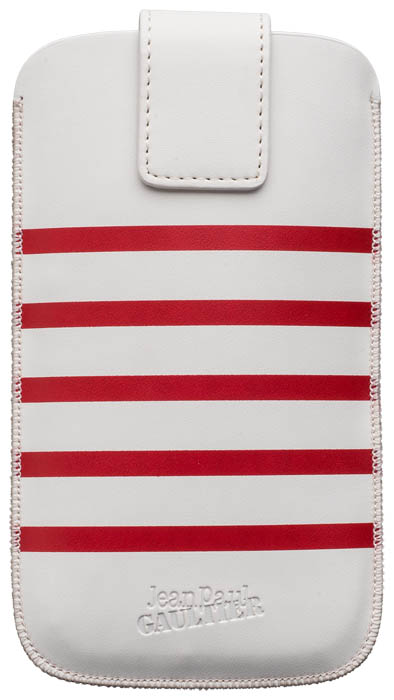 "Universal Medium Pouch ""Marinière"" Jean Paul Gaultier (white & red) - Packshot"