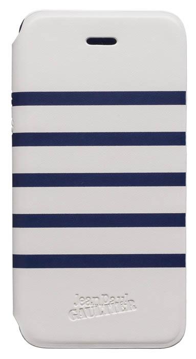 "Folio Case ""Marinière"" Jean Paul Gaultier (white & navy) - Packshot"